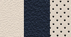 Premium quilted Nappa leather-faced with perforated inserts - Indigo/Linen with Linen accent stitching